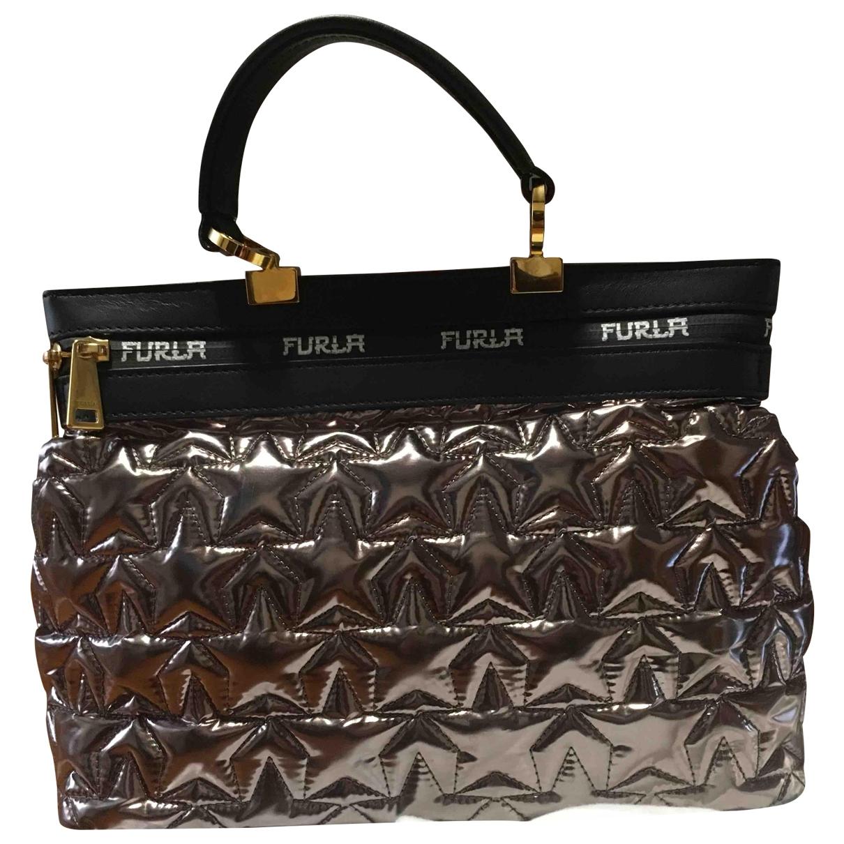 Furla \N Handtasche in  Metallic Synthetik