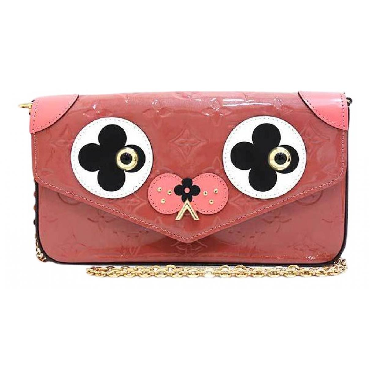 Louis Vuitton - Pochette   pour femme en cuir verni - rose
