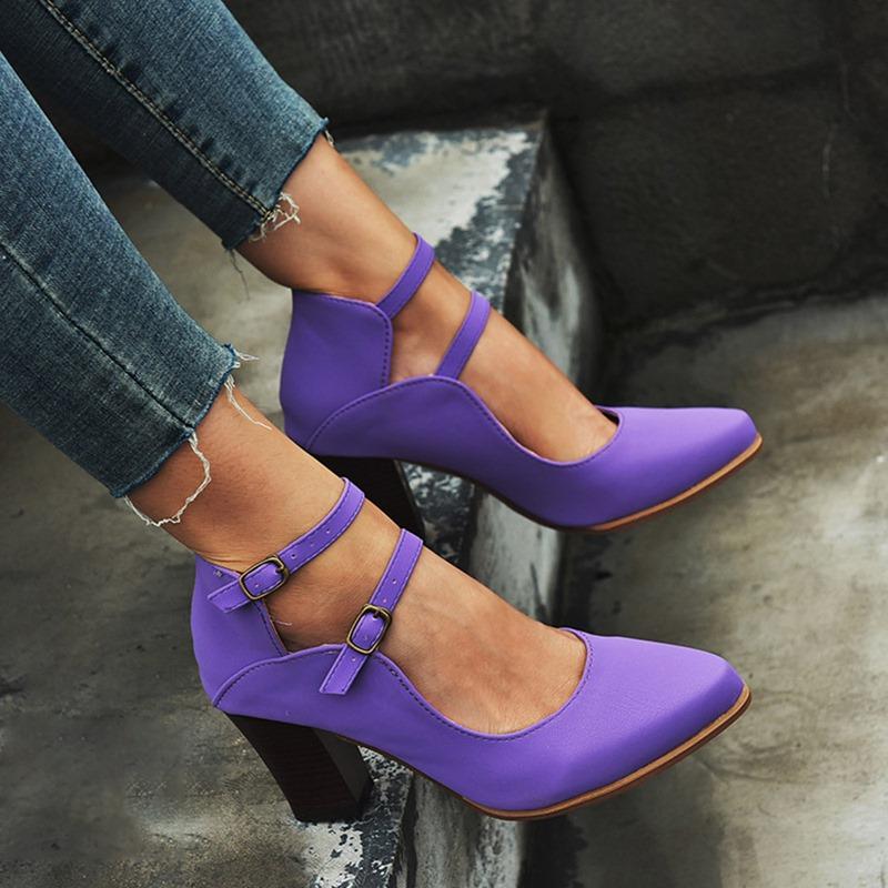Ericdress Buckle Thread Closed Toe High Heel (5-8cm) Thin Shoes