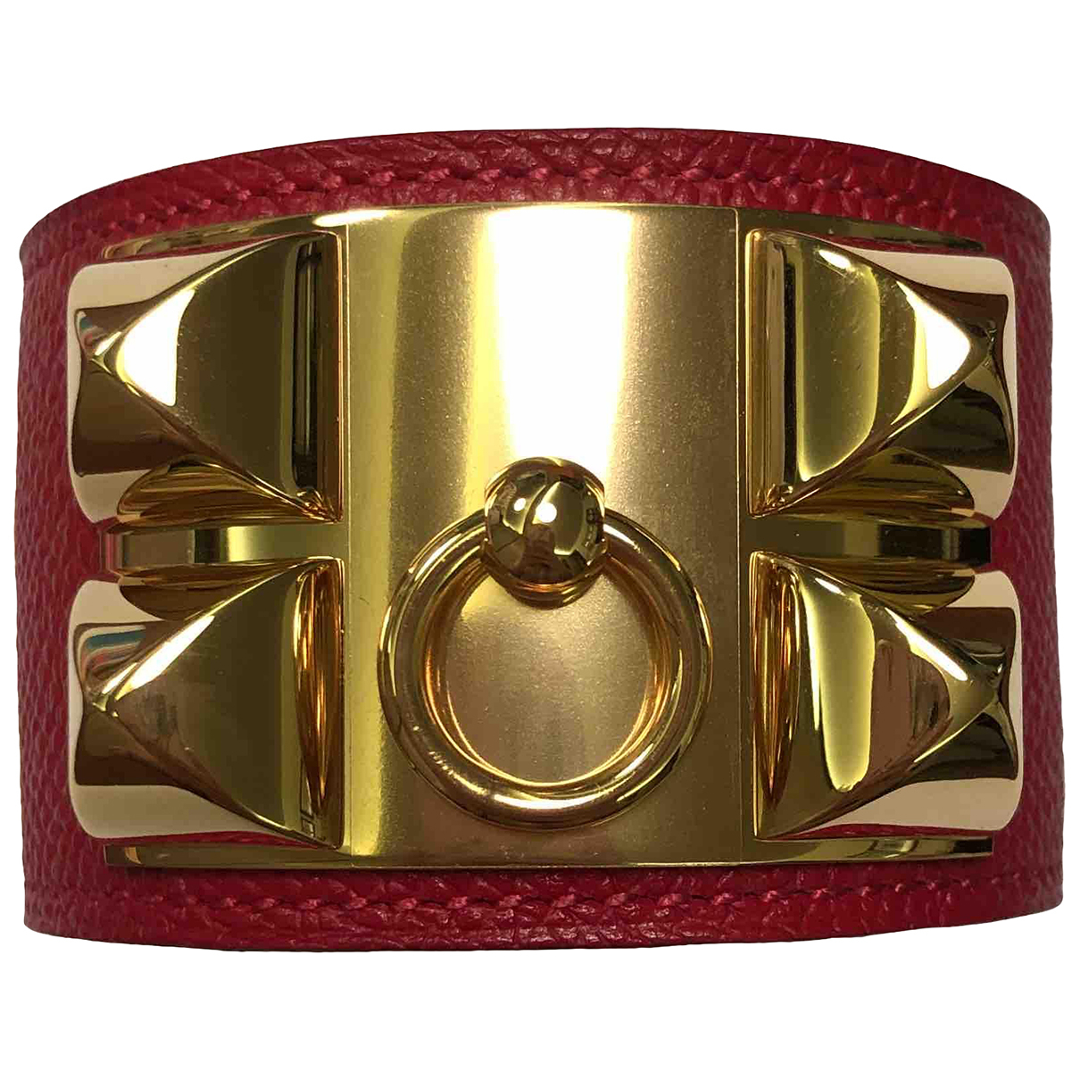 Hermès Collier de chien  Red Leather bracelet for Women \N