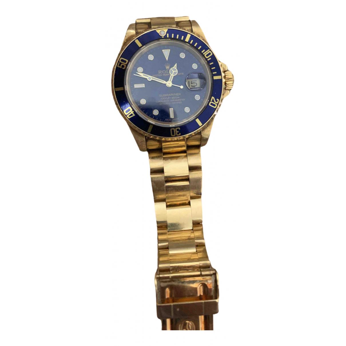 Rolex - Montre Submariner pour homme en or jaune - dore