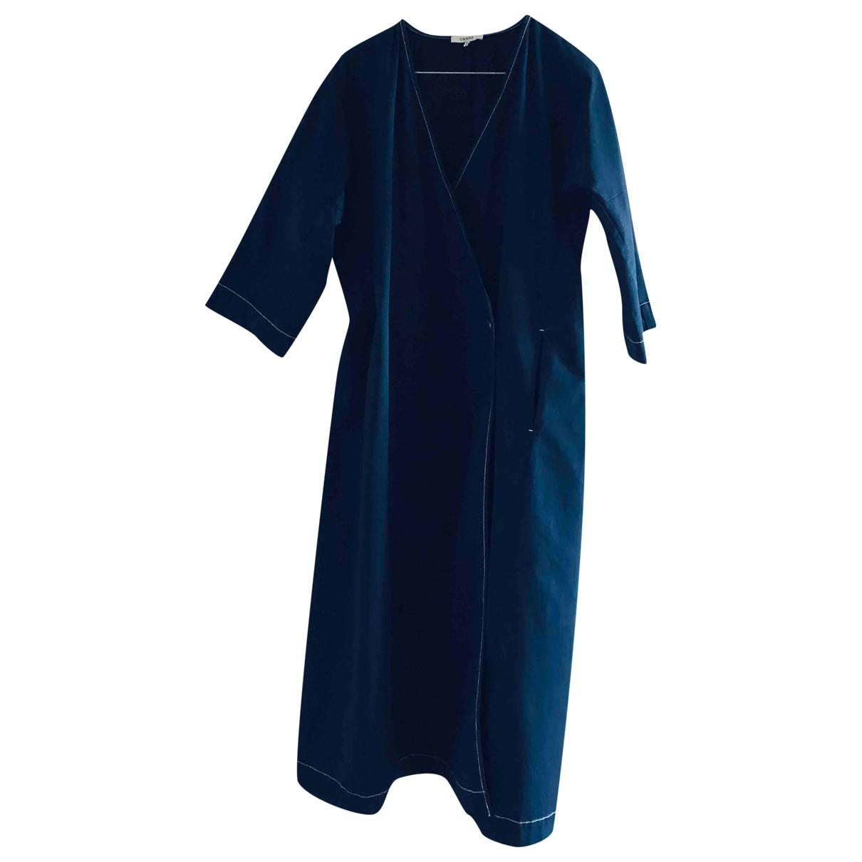 Ganni \N Navy Cotton coat for Women S International