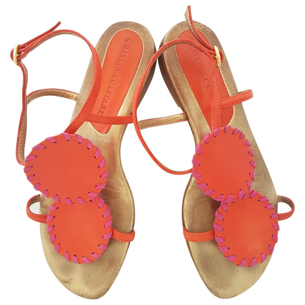 Sandalias de Cuero Non Signe / Unsigned