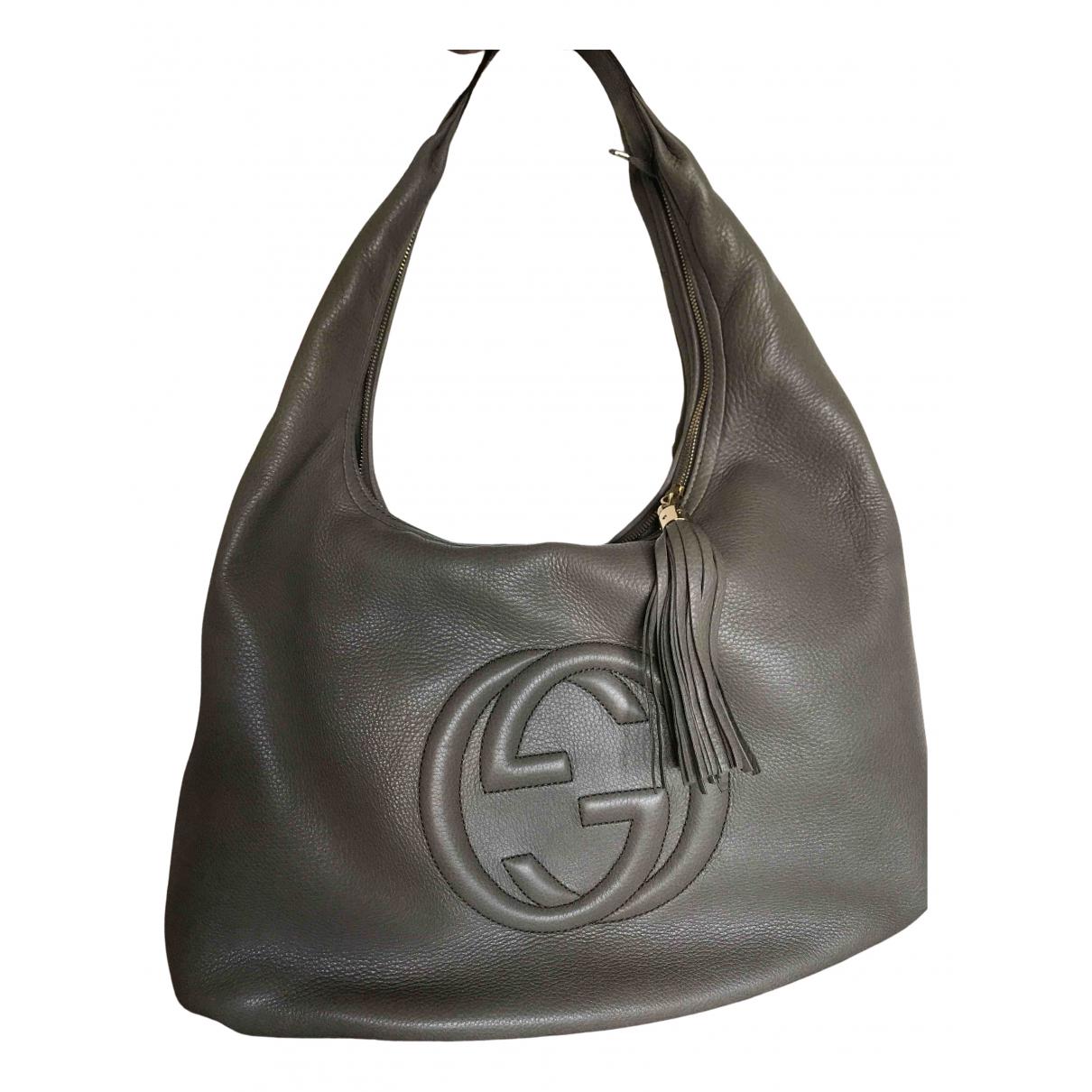 Gucci - Sac a main Hobo pour femme en cuir - gris