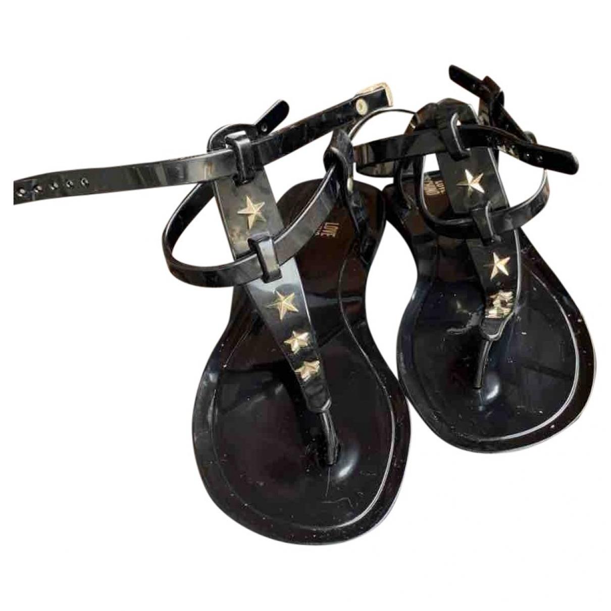 Moschino Love \N Sandalen in  Schwarz Kunststoff