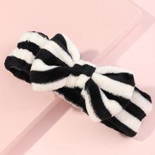 1pc Striped Pattern Bath Headband
