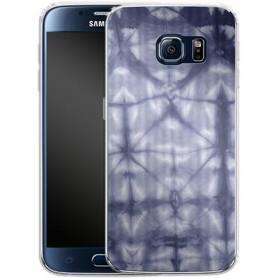 Samsung Galaxy S6 Silikon Handyhuelle - Tie Dye 2 Navy von Amy Sia