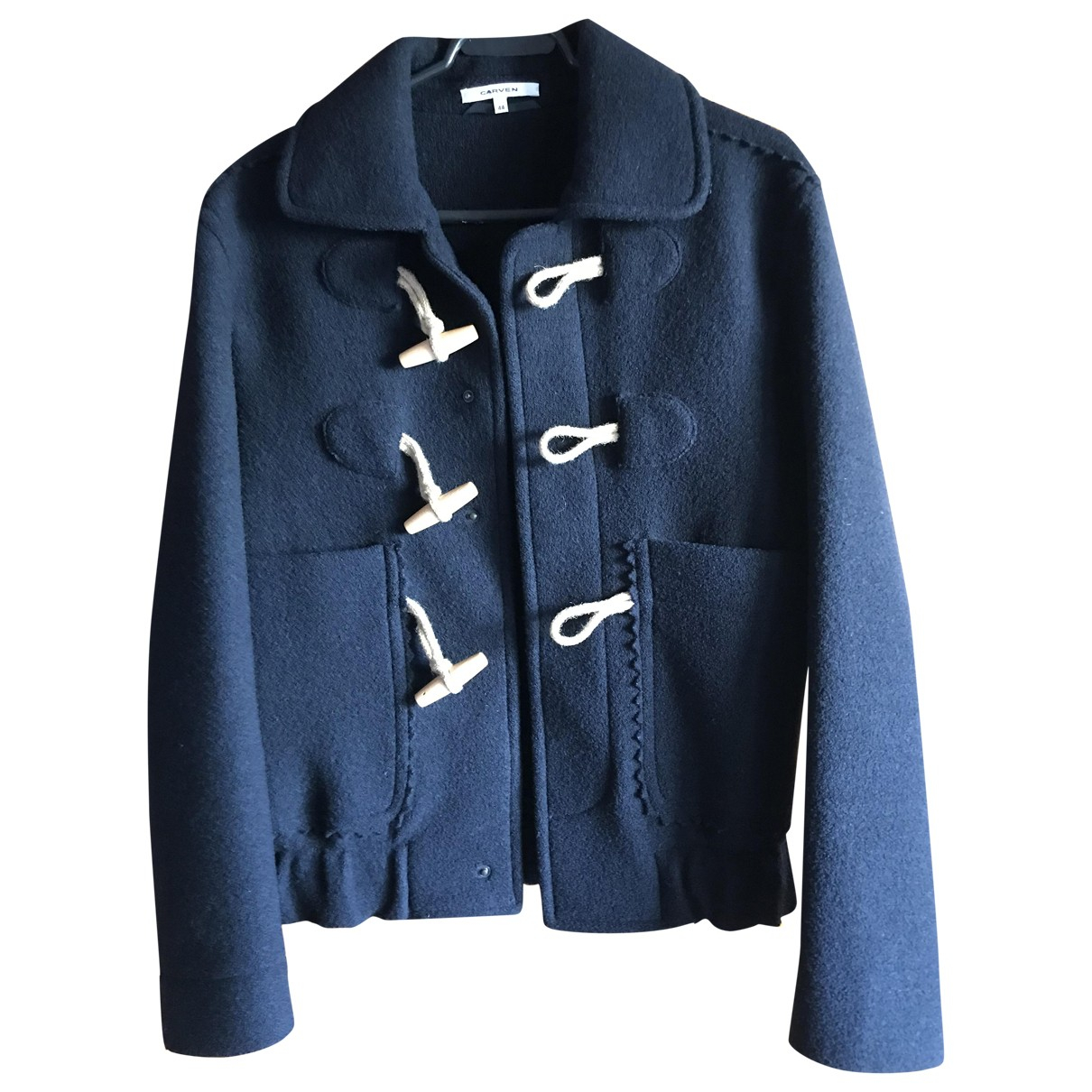 Carven N Navy Wool coat  for Men 44 FR