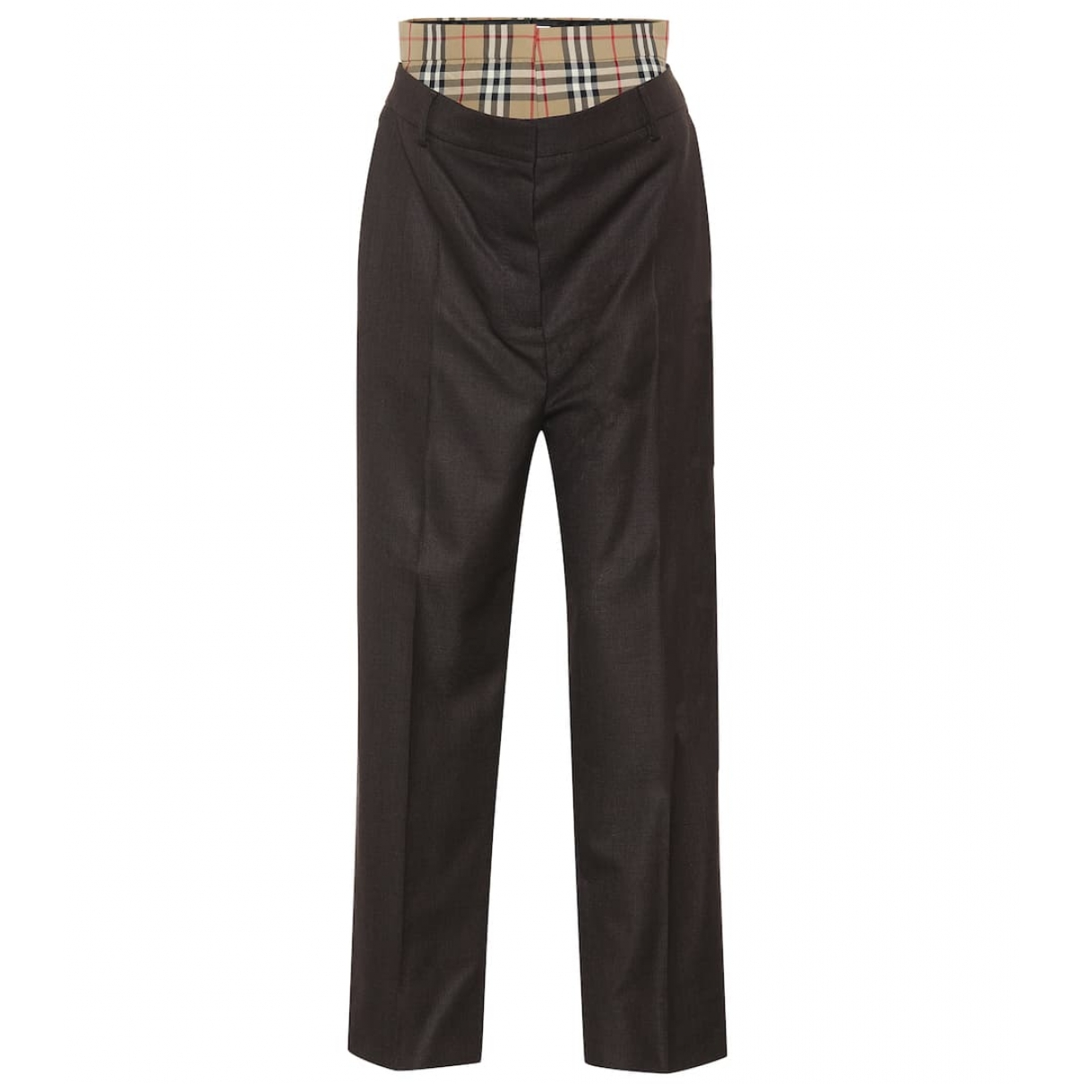 Burberry - Pantalon   pour femme en laine - marron