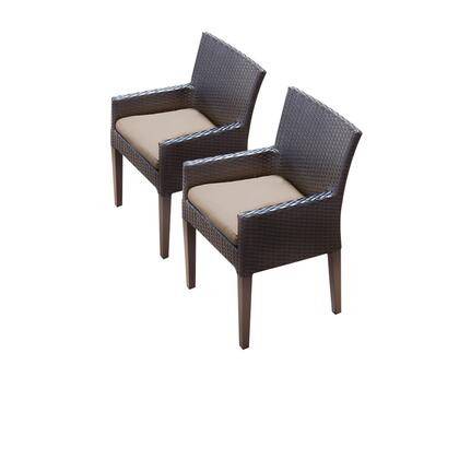 TKC097b-DC-C 2 Napa Dining Chairs With Arms with 1 Cover in