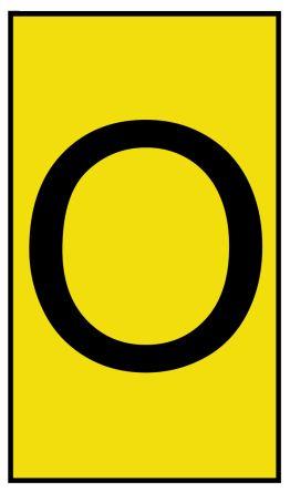 HellermannTyton Ovalgrip Slide On Cable Marker, Pre-printed O Black on Yellow 1.7 → 3.6mm Dia. Range