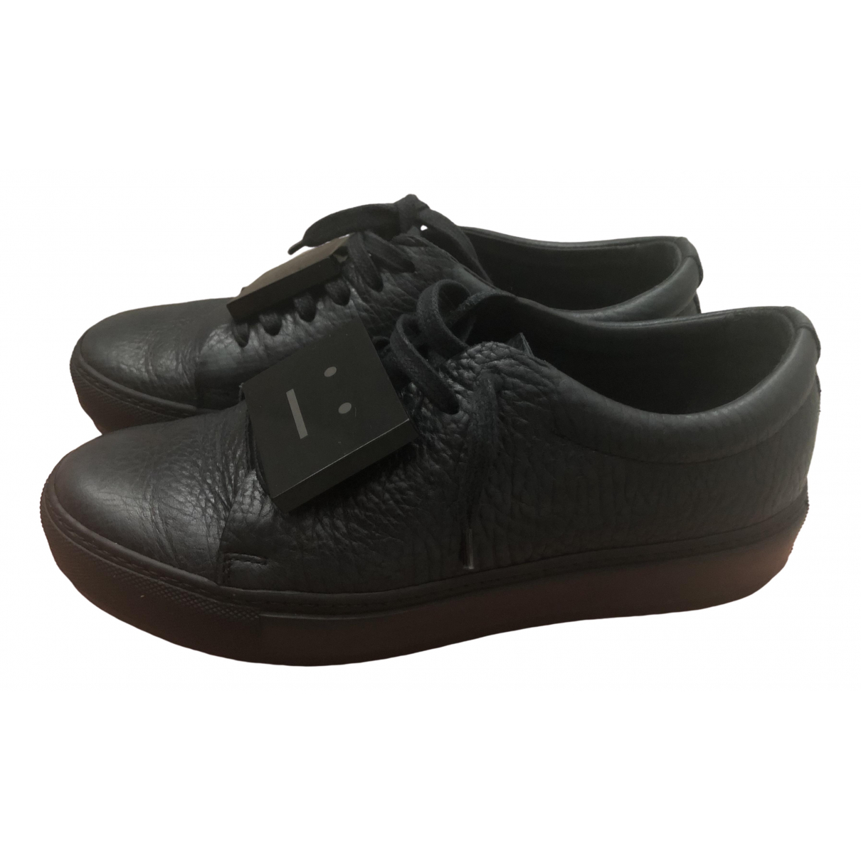Acne Studios \N Sneakers in  Schwarz Leder