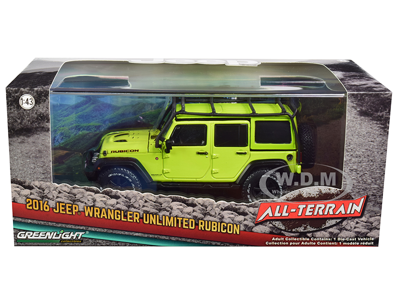 2016 Jeep Wrangler Unlimited Rubicon Off-Road with Roof Rack Hyper Green
