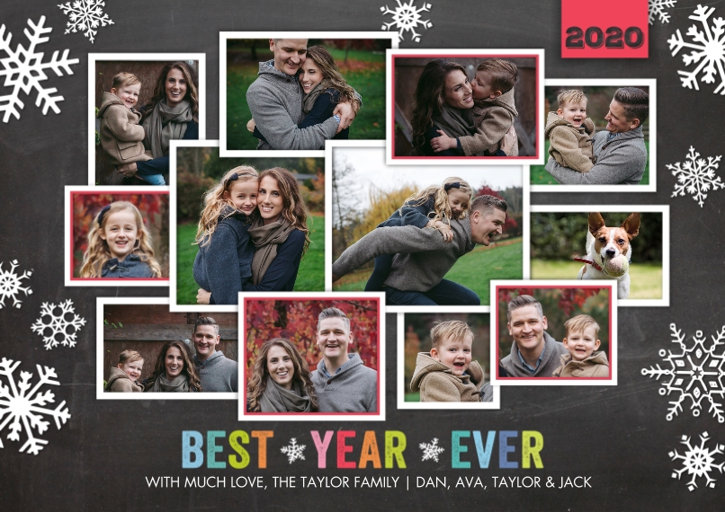 Christmas Photo Cards Mail-for-Me Premium 5x7 Flat Card, Card & Stationery -Holiday 2020 Best Year Ever by Tumbalina