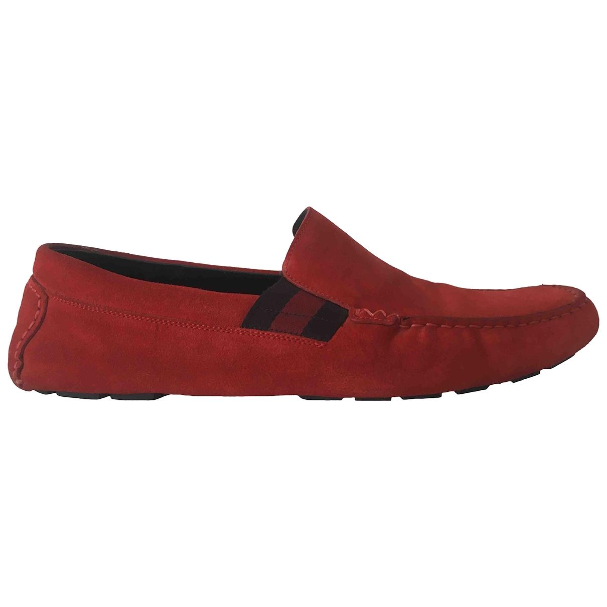 Gucci - Espadrilles   pour homme en suede - rouge