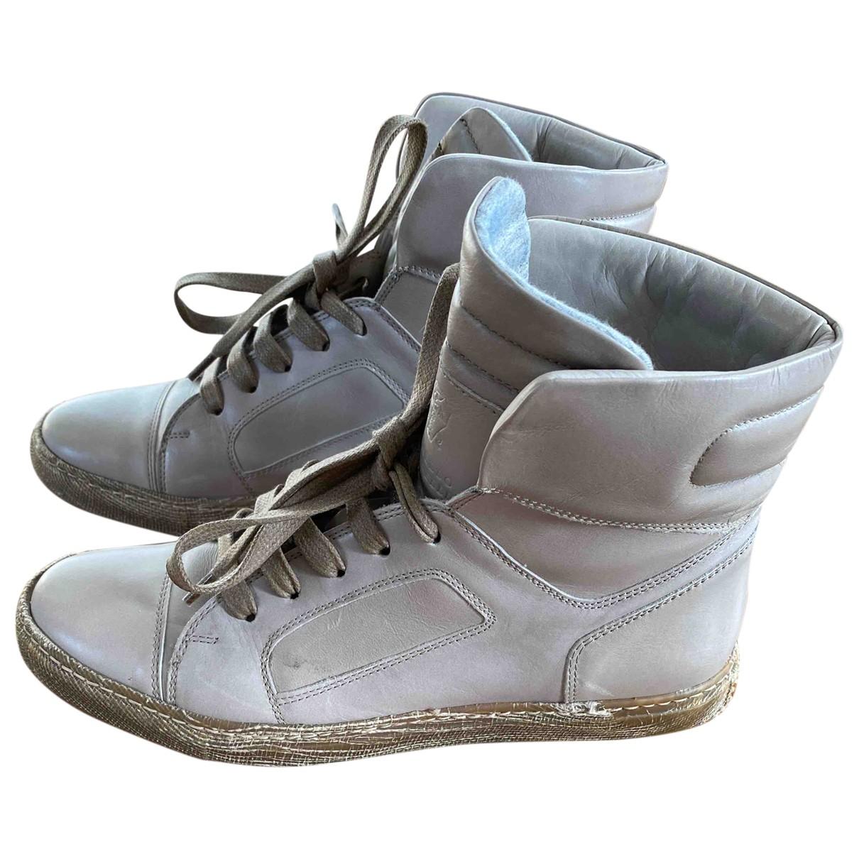 Brunello Cucinelli N Beige Leather Trainers for Women 37 IT