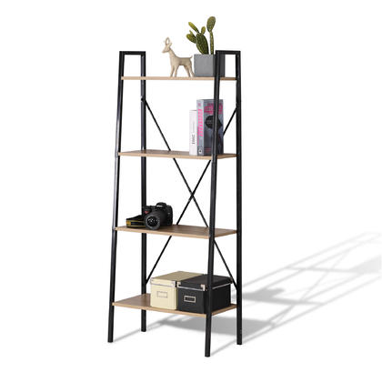 Wood Ladder Bookshelf 4 Tier - Moustache@