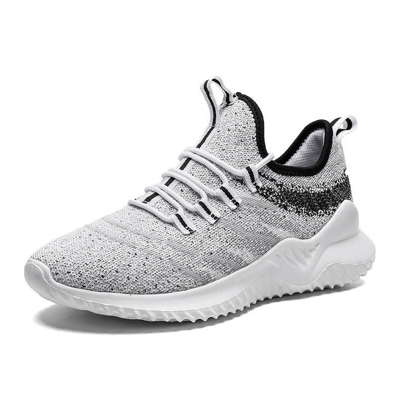 Ericdress Flyknit Low-Cut Upper Lace-Up Men's Sneakers