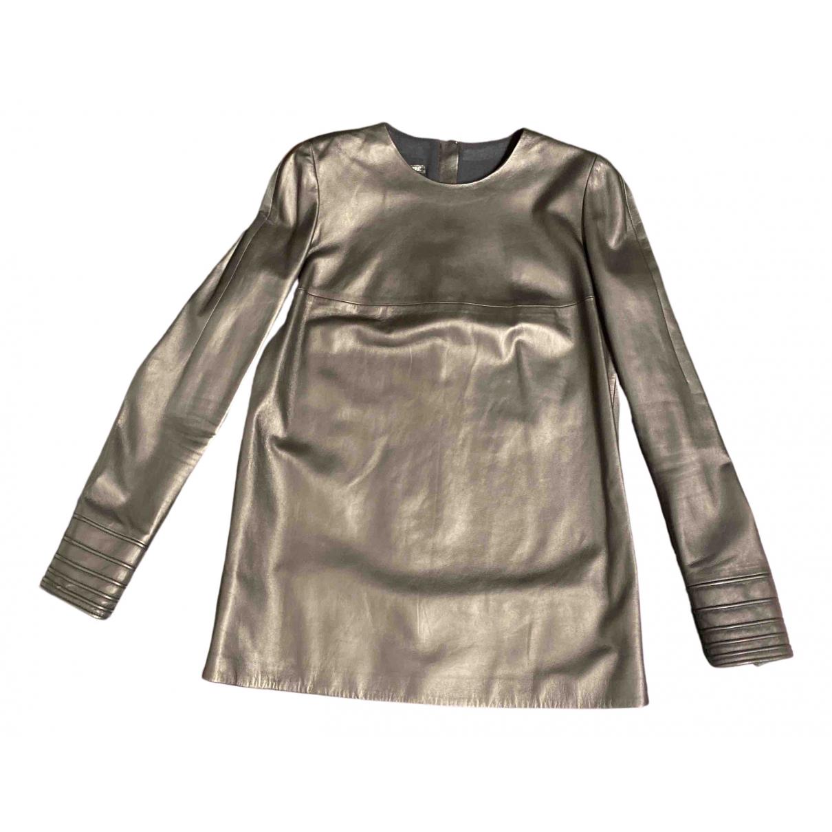 Gianfranco Ferré \N Black Leather  top for Women 40 IT