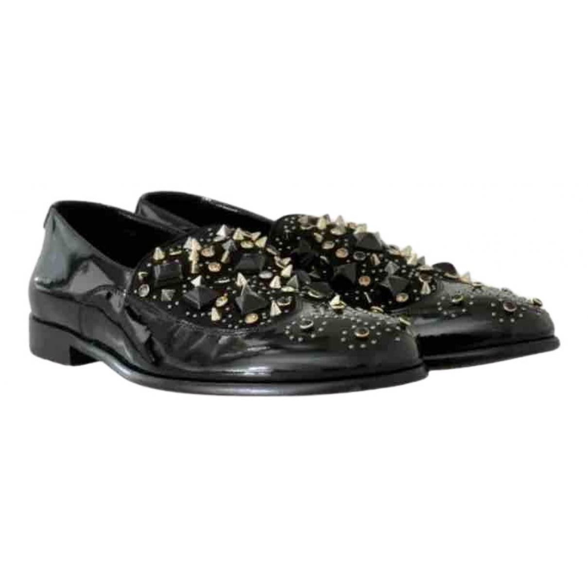 Dolce & Gabbana \N Mokassins in  Schwarz Lackleder