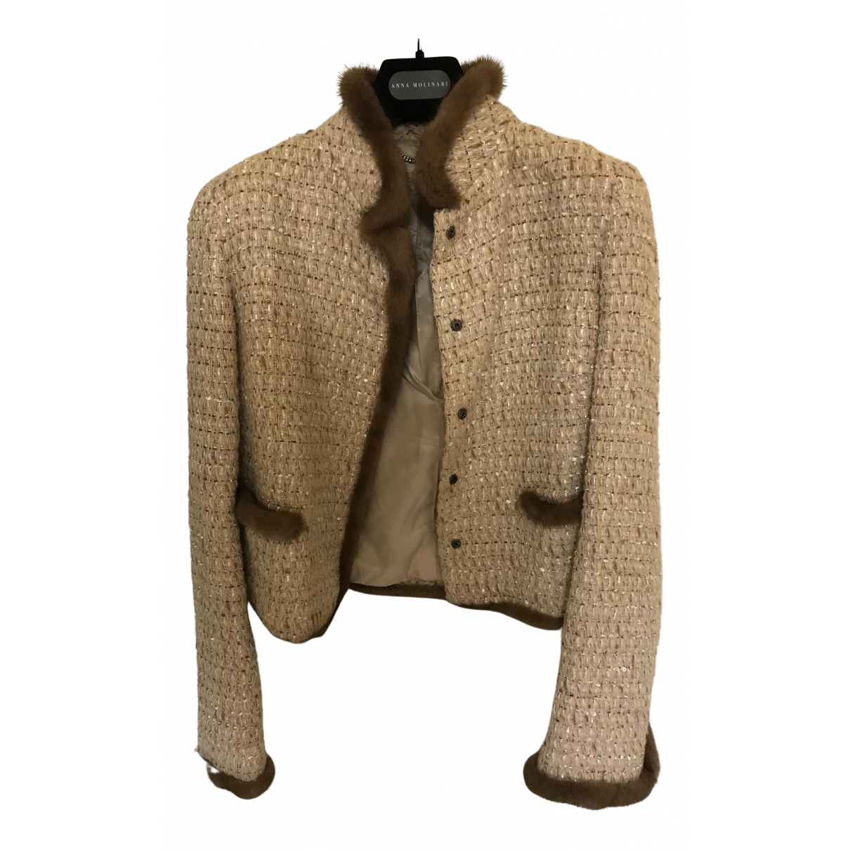 Blumarine - Veste   pour femme en laine - beige
