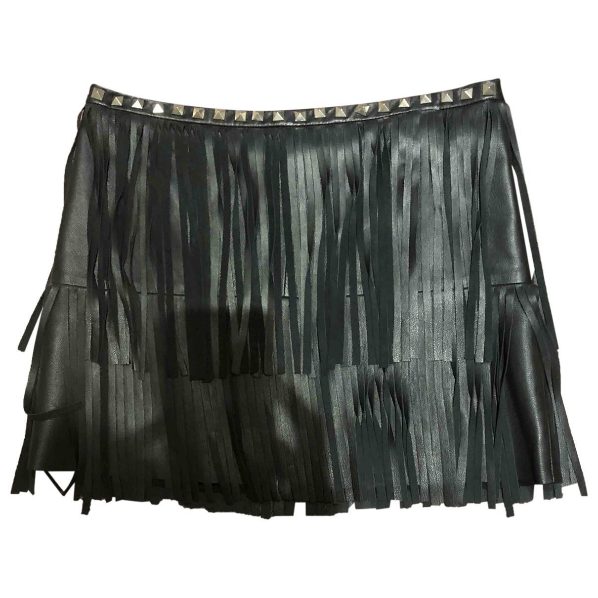 Philipp Plein - Jupe   pour femme en cuir - noir