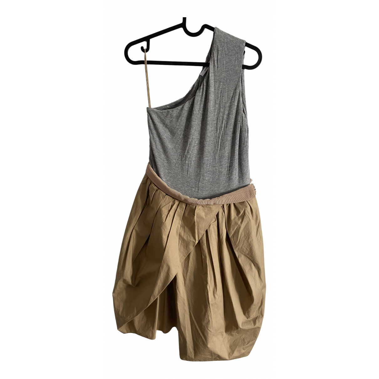 Carven \N Kleid in  Beige Baumwolle