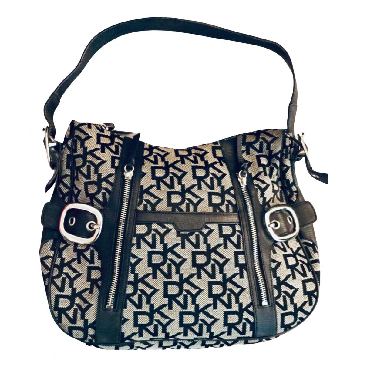 Dkny \N Handtasche in  Grau Leinen