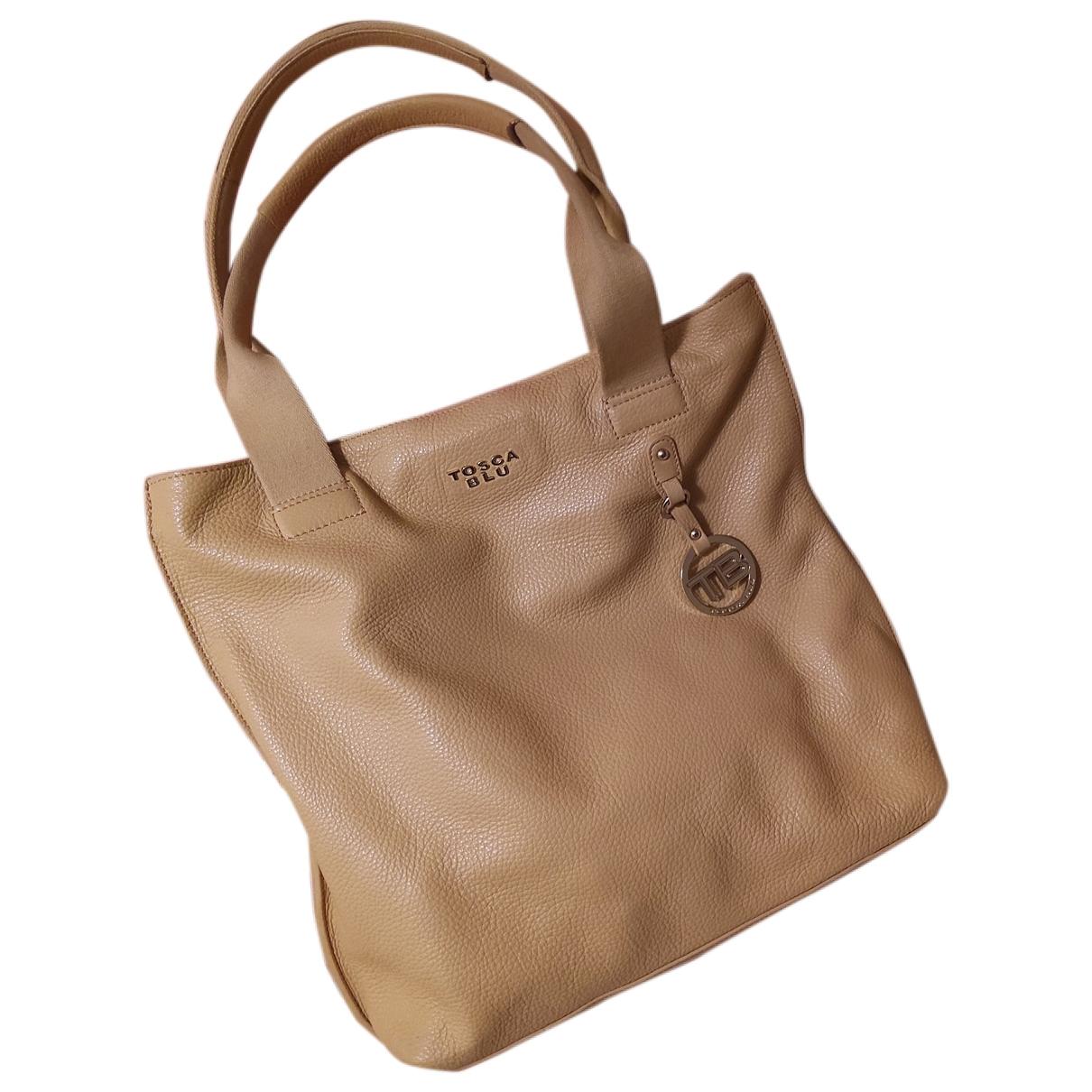 Tosca Blu \N Handtasche in  Beige Leder