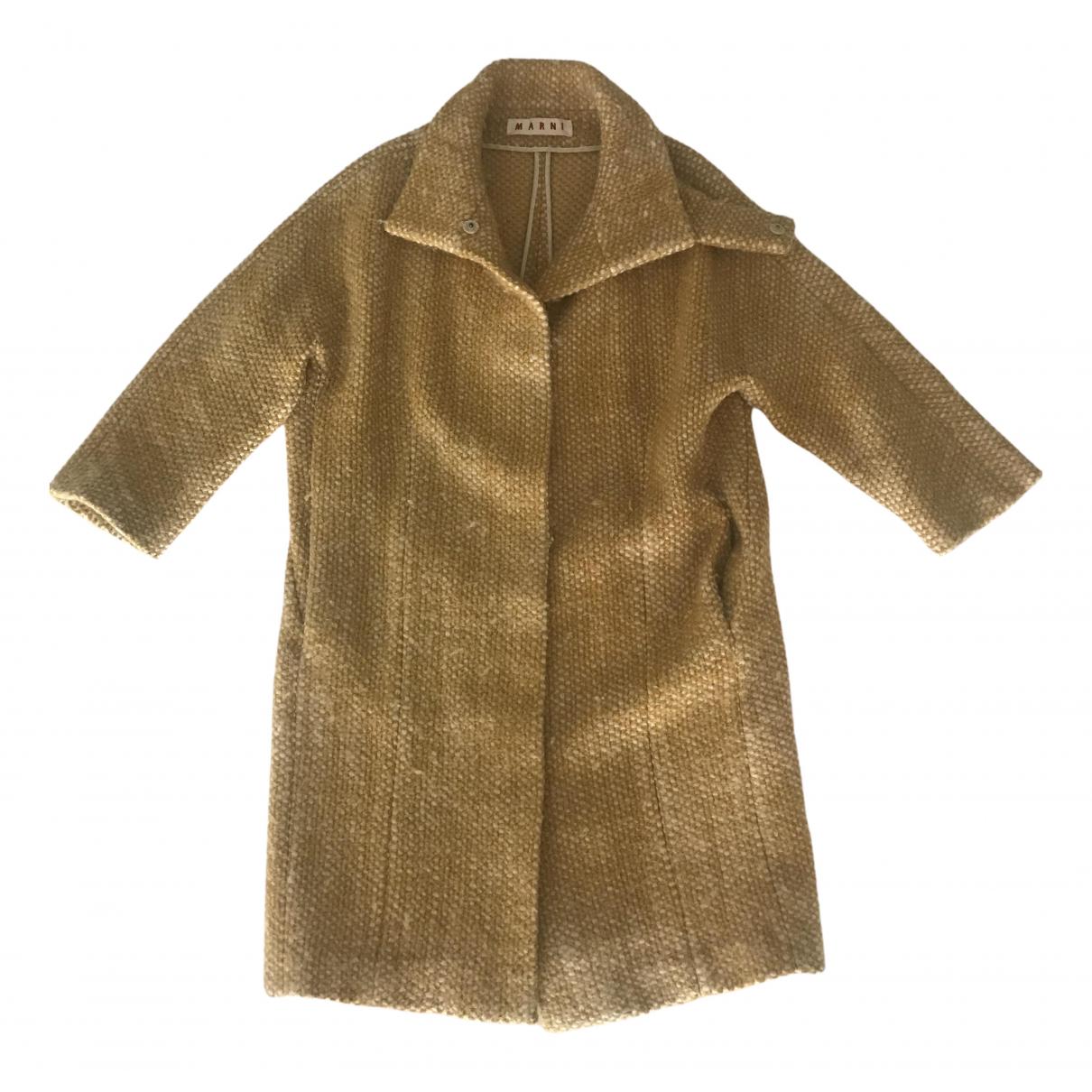 Marni - Manteau   pour femme en tweed - jaune