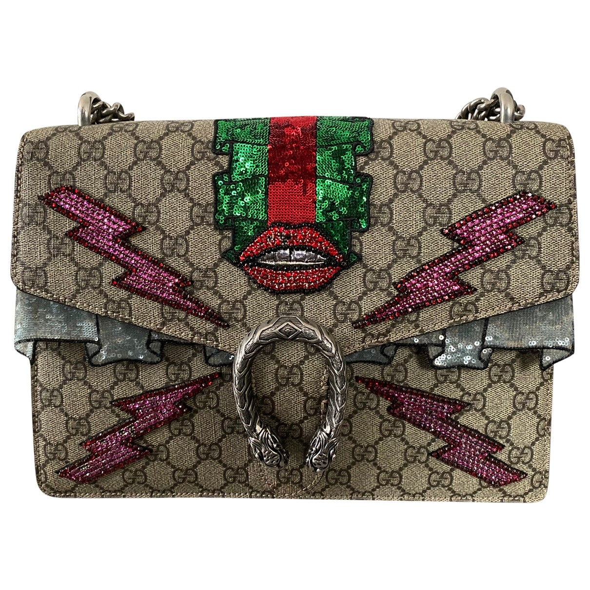 Gucci Dionysus Handtasche in  Bunt Leinen