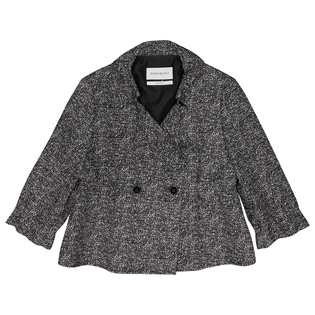 Yves Saint Laurent \N Black Silk jacket for Women 36 FR