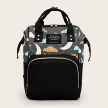 Moon & Cloud Graphic Pocket Front Backpack