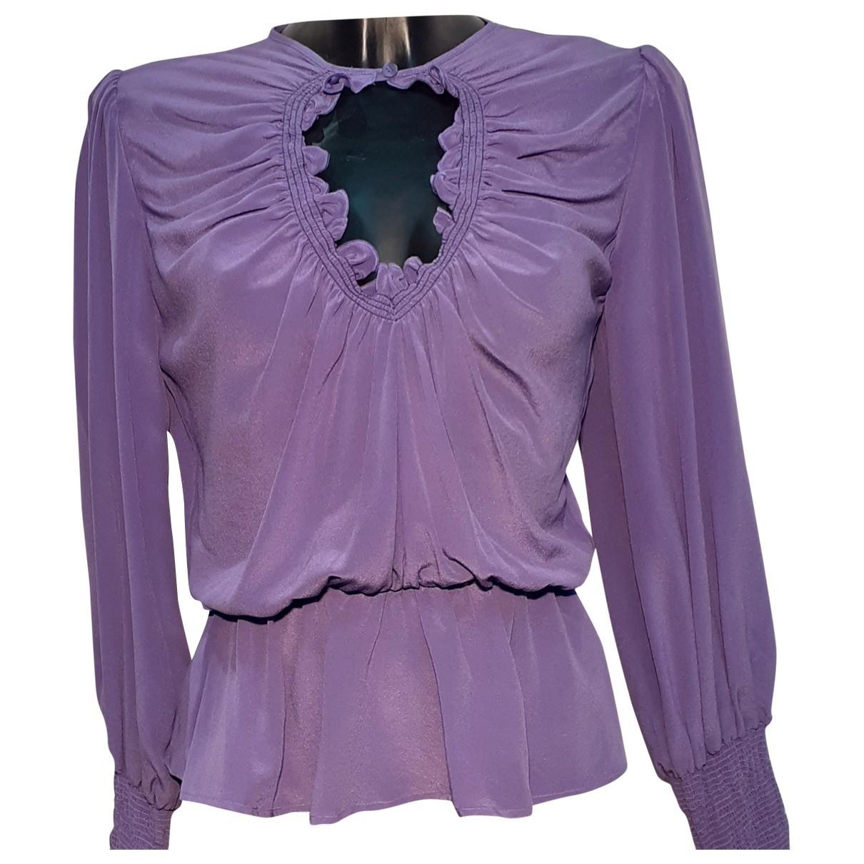 Pinko \N Purple Silk  top for Women 40 IT