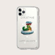 Christmas Socks Clear iPhone Case