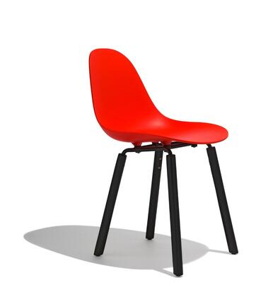 TA Collection TO-1511R-1502B Side Chair/Er Base Black Powder Coated/Red