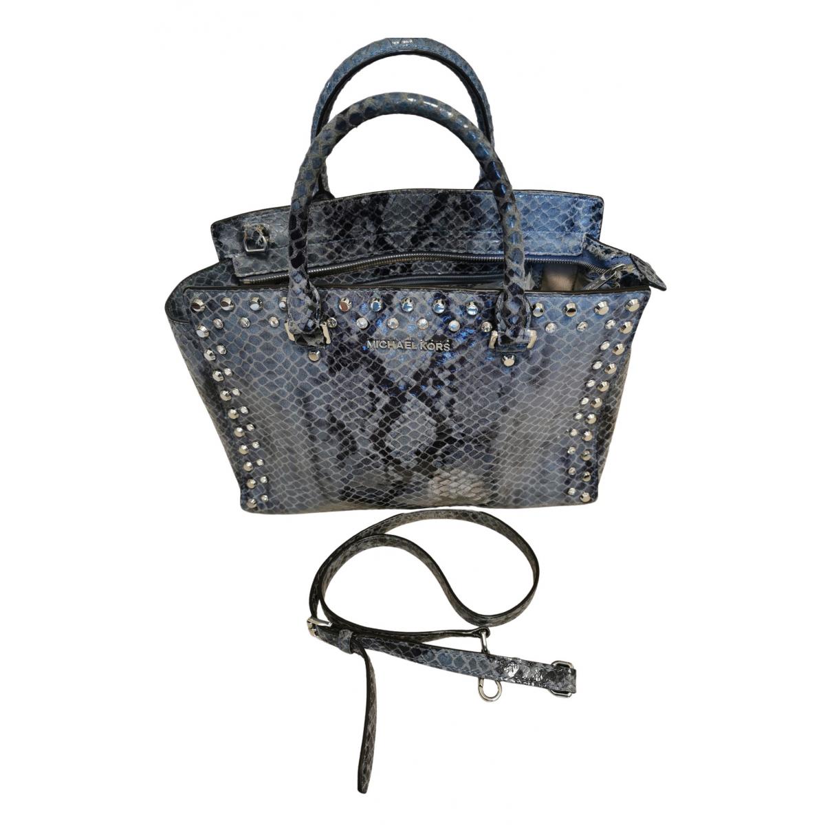 Michael Kors Savannah Handtasche in  Grau Leder