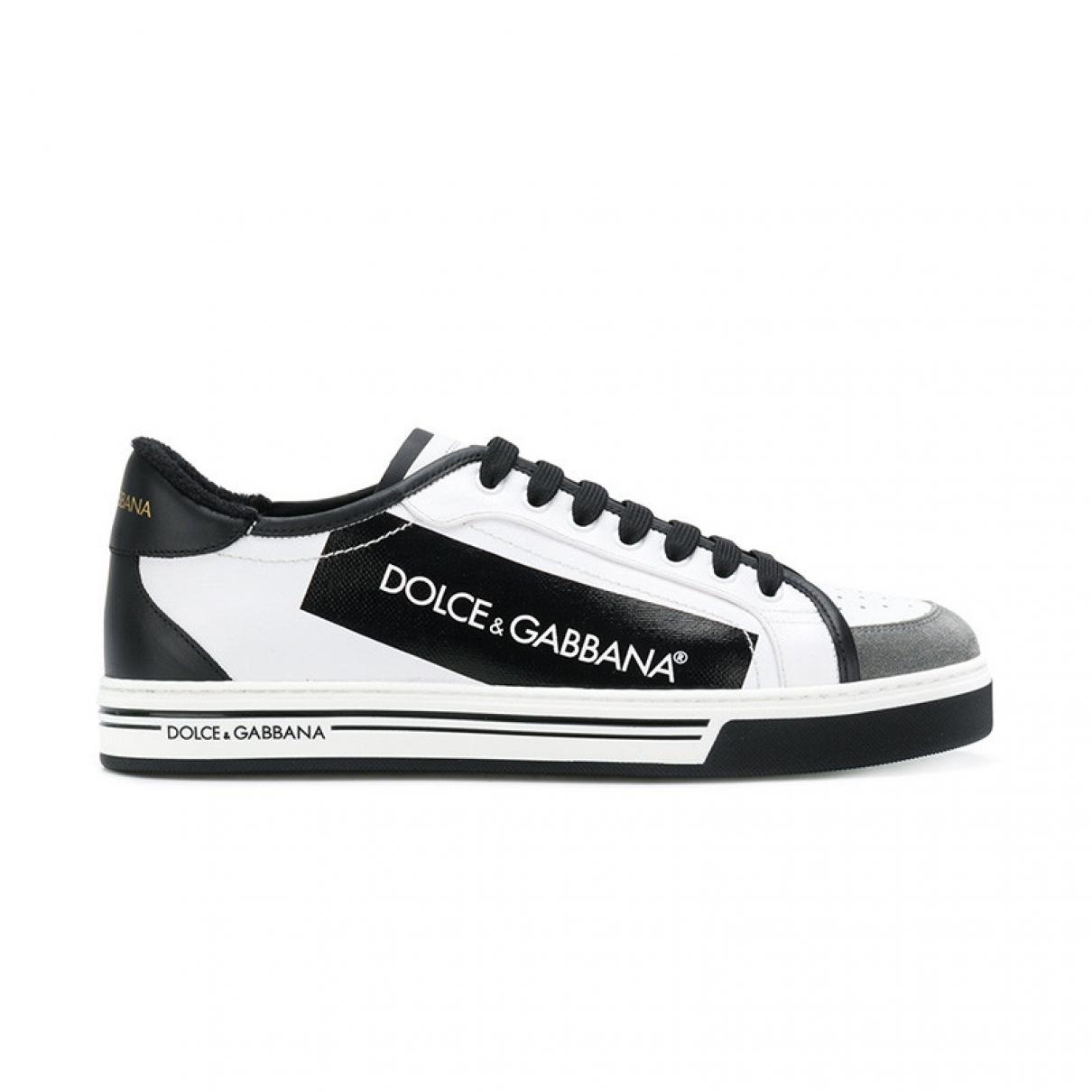 Dolce & Gabbana - Baskets Roma pour homme en cuir - blanc