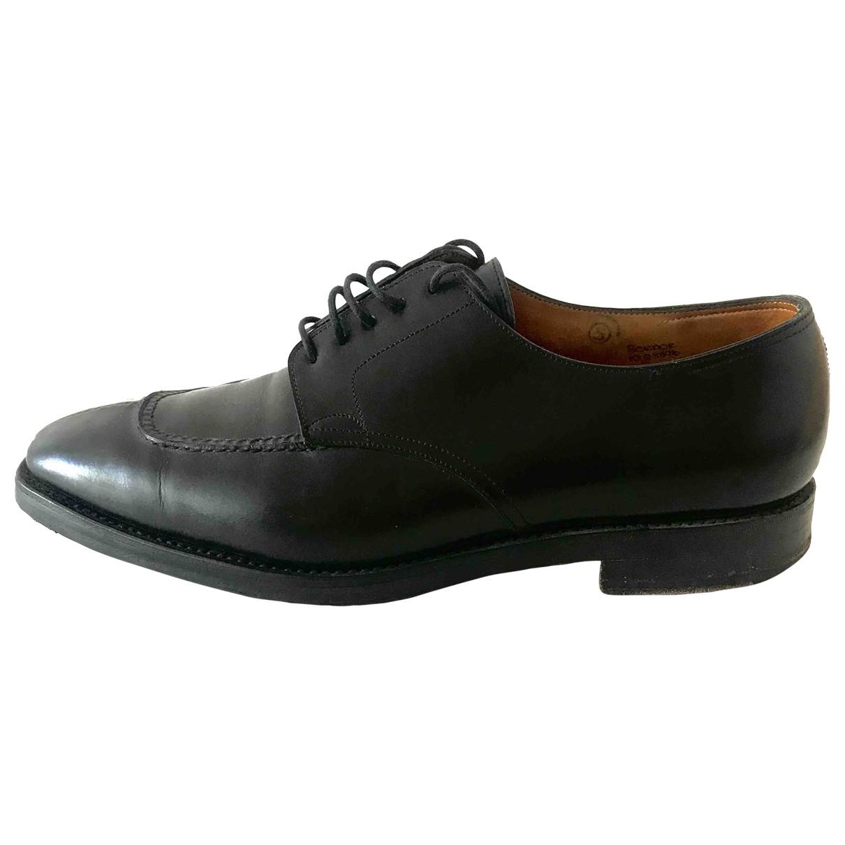 John Lobb \N Black Leather Lace ups for Men 44 EU