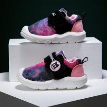 Kleinkind Maedchen Sneakers mit Farbblock und Klettverschluss