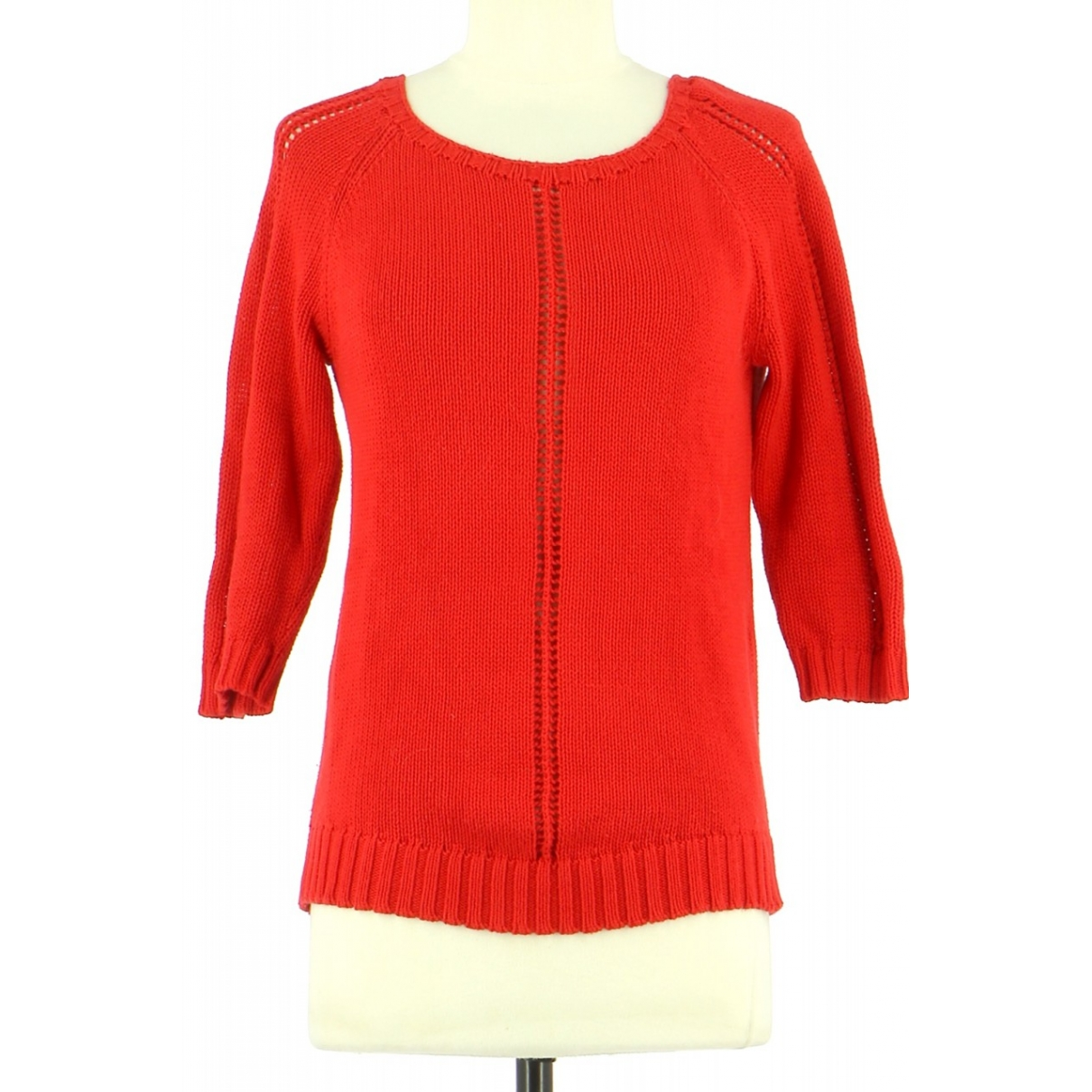 Maje \N Red Cotton Knitwear & Sweatshirts for Men 38 UK - US