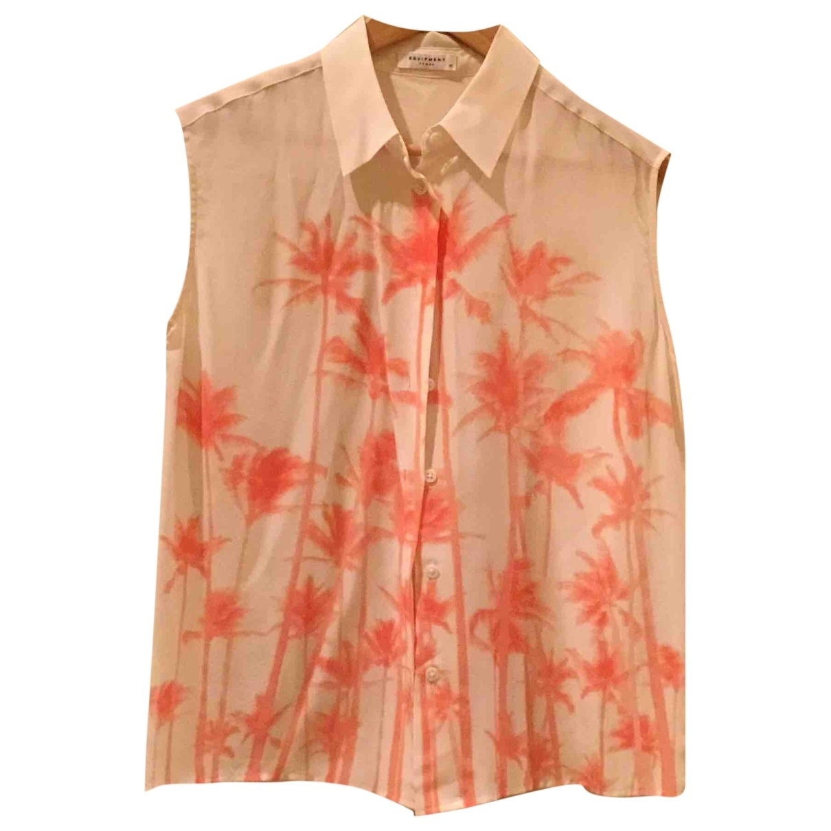 Equipment \N Ecru Silk  top for Women XS International