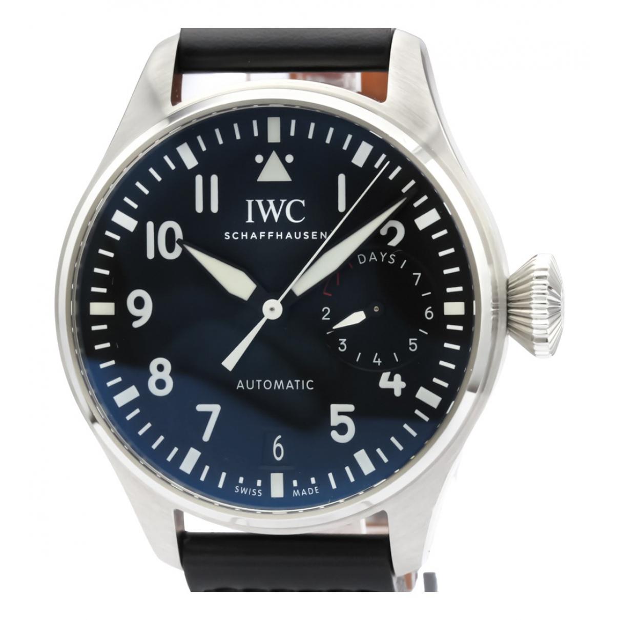 Iwc Pilot Uhr in  Schwarz Stahl