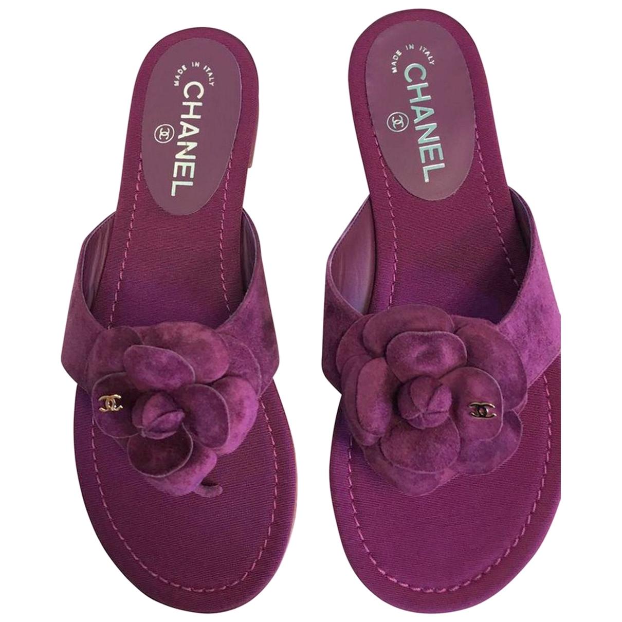 Chanel \N Purple Suede Sandals for Women 39 EU