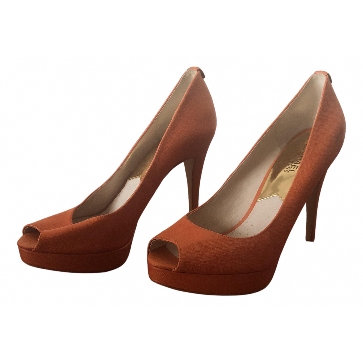 Michael Kors \N Orange Leather Heels for Women 40 EU