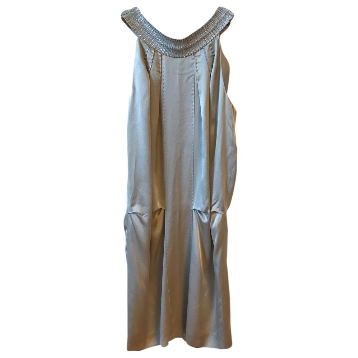 Alberta Ferretti - Robe   pour femme en soie - gris