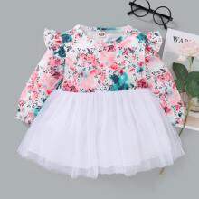 Vestidos bebe Volante Floral Casual