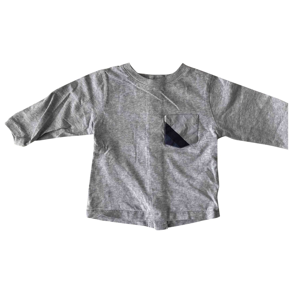Burberry \N Grey Cotton  top for Kids 9 months - until 28 inches UK