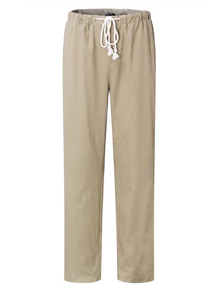 Yoins MODCHOK Men Drawstring Waist Cotton Casual Pants