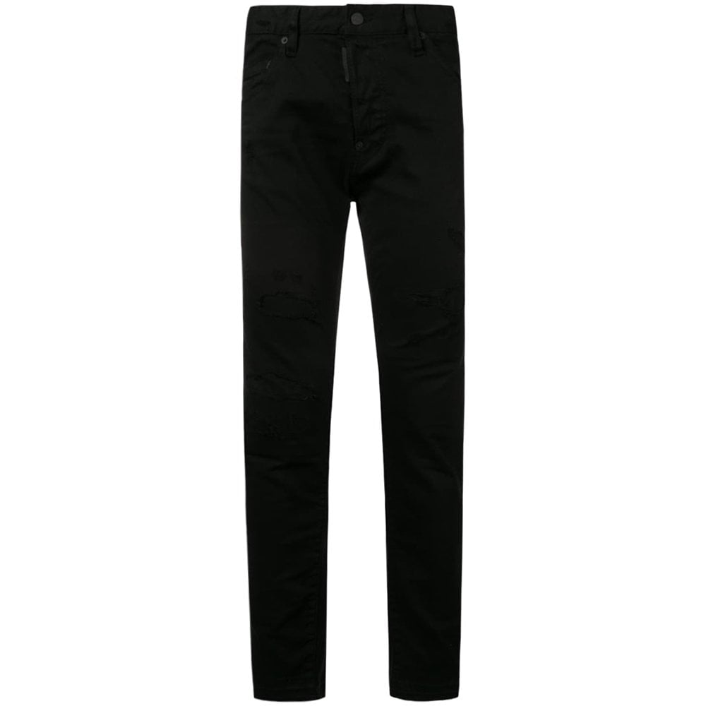Dsquared2 Plain Slim Fit Jeans Black Colour: BLACK, Size: 36 30